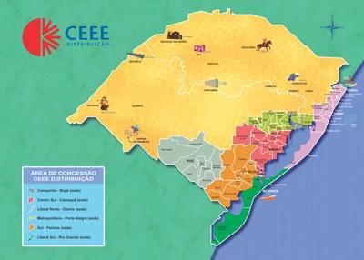 Área de Concessão CEEE-D