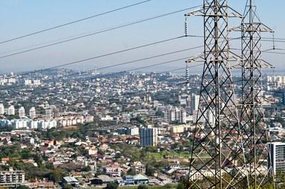 Torre de transmissão em Porto Alegre